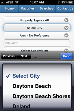 Daytona MLS City Search